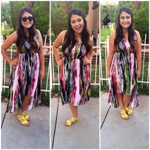 Love, Fire Printed High Low Dress Size Medium